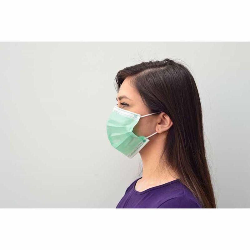 maseczka medyczna chirurgiczna medivon mdv 4420 typ ii zielona 3 warstwowa 50 szt 8 vat 002