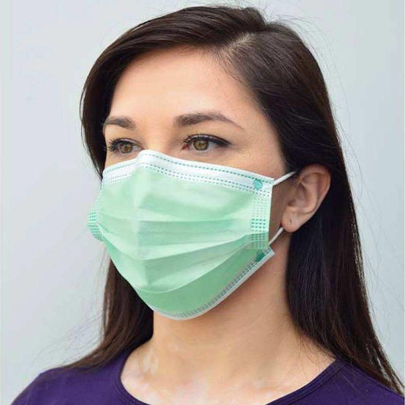 maseczka medyczna chirurgiczna medivon mdv 4420 typ ii zielona 3 warstwowa 50 szt 8 vat tlo 002