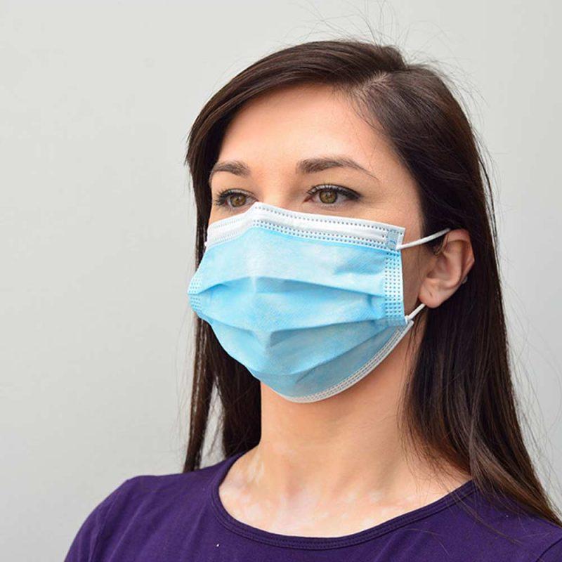 niebieska maseczka medyczna chirurgiczna medivon mdv 4420 typ ii 3 warstwowa 50 szt 8 vat tlo 004